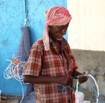 Making nets at FairFishing.